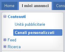 Canali personalizzati AdSense