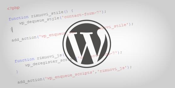Come disabilitare css e javascript di dei plugin di Wordpress